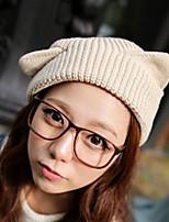 Cute Girls Braided Hair Bulb Angle of Small Demon cat Ear Protection Ear Caps