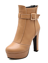 Women's Shoes  Stiletto Heel Combat Boots Boots Office & Career/Dress Black/Brown/White
