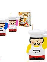 titular chefe gordura novidade caixa de palito de dentes em forma automática (cor aleatória)
