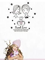 Wall Stickers Wall Decals Style Lovers Avatar PVC Wall Stickers