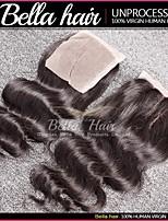 Cierre de cordones 3 parte peruana de la onda del cuerpo del pelo virgen (4x4