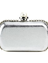 Handbag Faux Leather/Metal Evening Handbags/Clutches/Mini-Bags With Crystal/ Rhinestone/Imitation Pearl