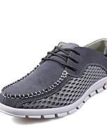Scarpe da uomo - Sneakers alla moda - Tempo libero - Di pelle / Tulle - Blu / Marrone / Grigio / Beige