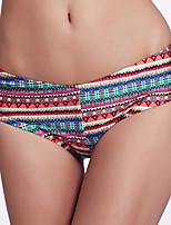 The Fille Women's Fluorescent Blue Bowknot/Mid Waist/ Multi-color Bikini Panties