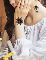5Pcs Waterproof Luminous Flower Pattern Temporary Body Art Tattoo Sticker
