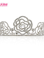 Neoglory Jewelry Rose Flower Tiara Wedding Crown Bridal Hair Accessories Crystals Hair Jewelry Headpiece Headband