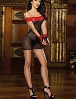 Women Lycra/Lace Sexy Slim Sexy Little Fantasies/Sleepwear Gowns Black
