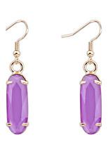 Women's Fine Fashion Simple  Alloy Drop Earrings With Multi-stone