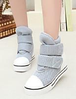 DONNE - Sneakers alla moda - Comoda/Chiusa - Zeppa Tessuto - Nero/Grigio