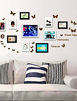Novelty Multi-colors Butterfly with Letters PVC Wall Sticker Wall Decals