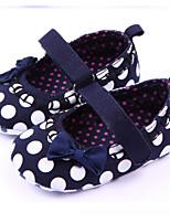 Baby Shoes Casual Fabric Flats Black/Red