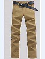Men's Fashion Korean Fleece Straight Slim Long Pants