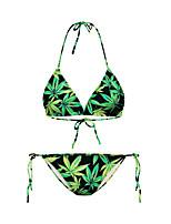 De las mujeres Bikini - Floral Sujetador sin Acolchado Nailon