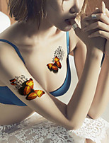 5Pcs Waterproof Color Butterfly Pattern Temporary Body Art Tattoo Sticker