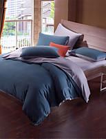 H&C Tencel 800TC Duvet Cover Set 4-Piece Solid Color NWY11
