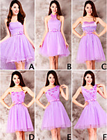 Dress - Purple Ball Gown Sweetheart Short/Mini Lace