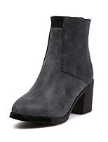 Women's Shoes  Chunky Heel Fashion Boots/Pointed Toe Boots Casual Black/Brown