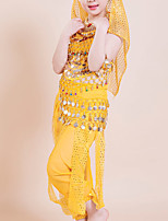 Latin Dance Outfits Children's Performance/Training Polyester Tassel(s) 5 Pieces Yellow