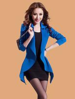Women's Casual Medium Long Sleeve Long Blazer