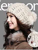 Kenmont Lady Winter Acylic Iceland Yarn Handmade Cap Traveling Fashion Brimless Hat 1149