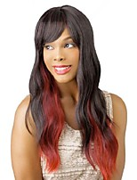 Fashion Sexy Wavy Wig Heat Resistant Curl Long Full Cosplay Party Hair Wigs Red+Black