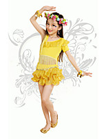 Belly Dance/Performance Outfits Children's Performance/Training Polyester Tassel Outfit Pink/Yellow