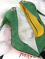 Women's Shoes Velvet Stiletto Heel Heels Pumps/Heels Party & Evening/Dress/Casual Black/Blue/Green/Red/Khaki
