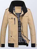 SENLEIS®Men's Casual Work Plus Sizes Pure Long Sleeve Regular Jacket (Cotton Blend/Polyester)