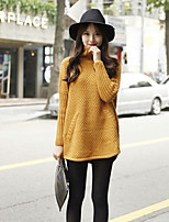 Women's Yellow/Beige Pullover , Casual/Party Long Sleeve
