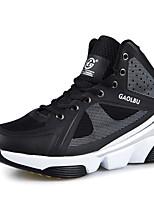Atletické boty-Tyl-Pohodlné-Pánské-Černá Žlutá Modrá-Outdoor Běžné Atletika-Plochá podrážka
