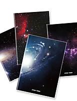 x - libro a5-96 los helados de alta calidad cuadernos de revestimiento de goma (la estrella) (4 libros por paquete) a5-96-jt-005