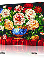 DIY Digital Oil Painting With Solid Wooden Frame Family Fun Painting All By Myself      Bloom And Wealth 5052