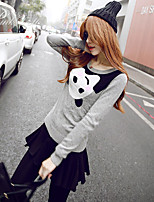 Pink Doll®Women's Casual Color Block Long Sleeve  Pullover