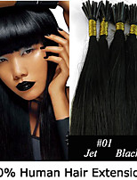 22 inch Keratin Stick Tip/ I Tip 0.5g/s Malaysian Human Hair Extensions 8 Colors for Women Beauty