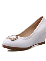 Women's Shoes  Wedge Heel Round Toe Pumps/Heels Office & Career/Dress/Casual Blue/Pink/White
