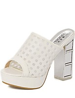 Women's Shoes Platform Heels/Platform Sandals Casual White/Silver