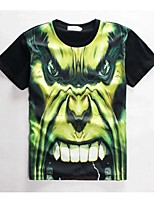 Men's High Quality Creative Funny Summer Breathable 3D Style T-Shirt——The Green Monster