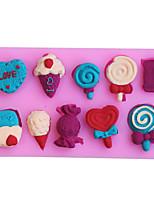 Molde de pastel en forma de herramienta de azúcar de silicona fondant decoración arcilla 3d helado lindo bricolaje