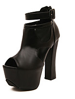 Women's Shoes  Chunky Heel Styles Sandals Casual Black