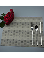 2PCS European Style High Quality PVC Dining Coasters Table Placemats (12