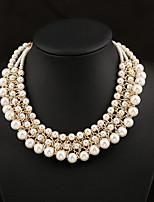 Women's Pearl Short Paragraph Clavicle  Necklace