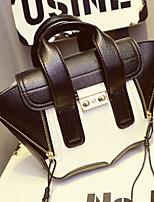 Women 's PU Baguette Shoulder Bag/Tote - Black