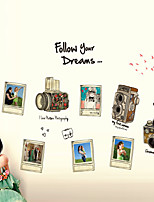 Wall Stickers Wall Decals Style Camera Photo PVC Wall Stickers