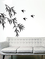 Wall Stickers Wall Decals Style Bamboo Leaf PVC Wall Stickers