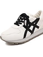 Zapatos de mujer - Tacón Cuña - Comfort - Sneakers a la Moda - Exterior - Semicuero - Blanco / Plata