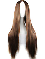 New Anime Cosplay Carve Long Straight Brown Hair Wig 80CM