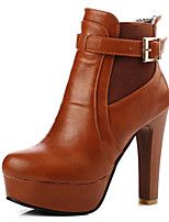 Women's Shoes Chunky Heel Platform/Fashion Boots Boots Office & Career/Dress/Casual Black/Brown/White