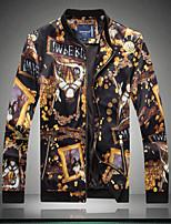 Men's Big Coat Jacket Chinese wind flower jacket bigger sizes fatty Jacket