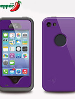 Para Funda iPhone 5 Impermeable / Antigolpes / Antipolvo Funda Cuerpo Entero Funda Armadura Dura Policarbonato iPhone SE/5s/5