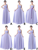 Mix & Match Dresses Floor-length Chiffon 6 Styles Bridesmaid Dresses (3789890)